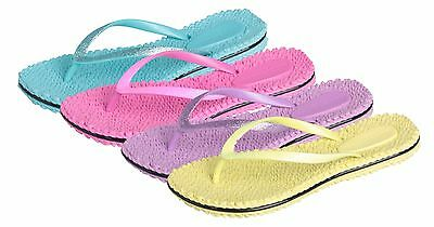 WHOLESALE Lot 36 Ladies Flip Flops w Glitter on Thong, Light Color Group $1.45