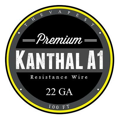 100 FT - 22 Gauge Kanthal A1 AWG Round Wire Roll .64mm, 1.31 ohms/ft