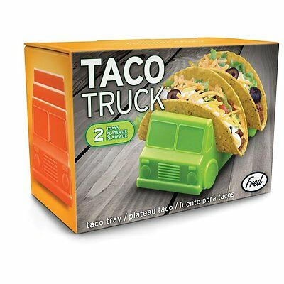 Taco Truck Fun Safe Plastic Food Taco Tray 2 In Set Novelty Gift New