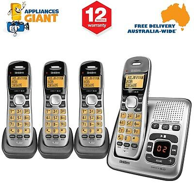 Uniden DECT1735+3 Quad Handset Digital Cordless Phone with Answering Machine NEW