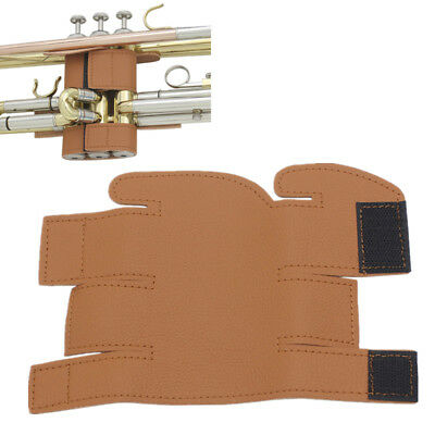 New Synthetic Leather Valve Trumpet Guard Velcro Brown Deluxe Cornet