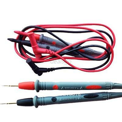 Fully Insulated Quick Piercing Test Clips Multimeter Test Probe Red/Black Tools