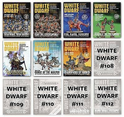 White Dwarf Magazine WarHammer Age of Sigmar Fantasy Back Issues 101- Latest NEW
