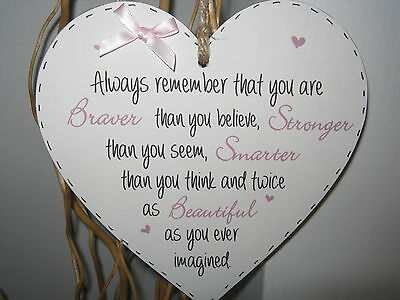 Handmade 15cm Heart Wall Plaque  Best Friend Thank You Gift Inspirational quote