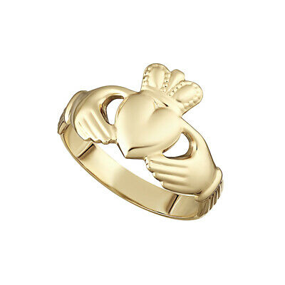 9k-Rose Gold Claddagh-Irish Made-Ladies Claddagh- LOVE HEART RING -ALL SIZES