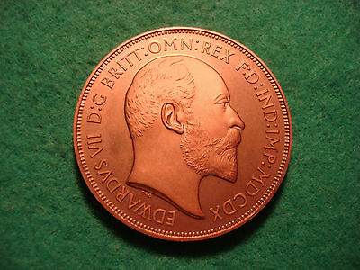 1910 EDWARD VII COPPER PROOF PATTERN CROWN - GEORGE SLAYING DRAGON CROWN KM X92b