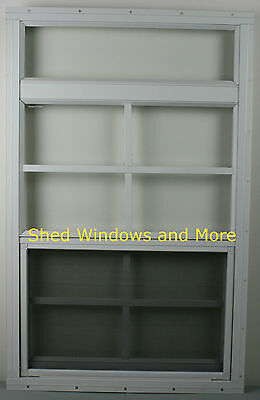 """Playhouse Window 12"""" x 24"""" White Flush Shed Window Shed Treehouse Coops Garage"""