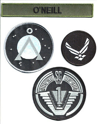 Stargate SG-1 O'NEILL Uniform Screen Accurate Patch Set of 4 (SGPA-ONEILL)