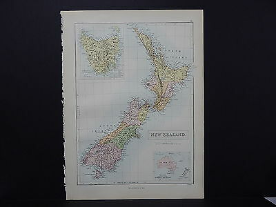 Black's 1876 Atlas, New Zealand, Single Page