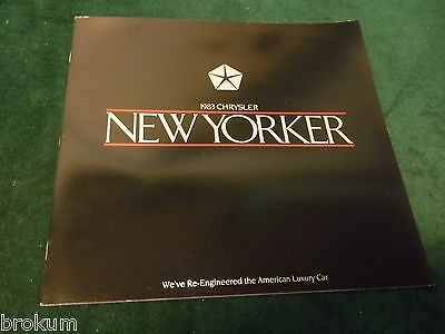 Mint 1983 Chrysler New Yorker 16 Page Dealer Original Sales Brochure Box 653)