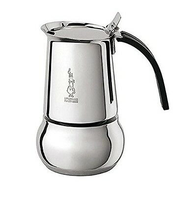 Bialetti: Kitty Nera 4 Cup Espresso Coffee Maker in Stainless Steel Bialetti