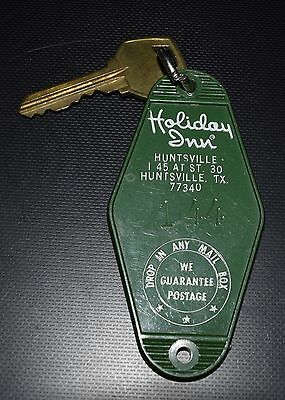 Vintage Holiday Inn  Huntsville, TX  Motel Room Key & Fob