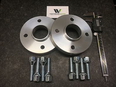 Pair 4x100 Hubcentric Spacers 15mm Wide 60.1CB 8 Wheel Bolts CLIO MEGANE UK Made