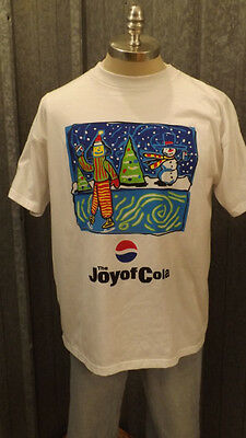 "Vtg Pepsi  ""The Joy of Cola"" Christmas Winter/Holiday t-shirt Sz XL NWOT"