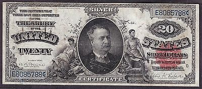 US 1891 $20 Manning Silver Certificate FR 319 F-VF (-788)