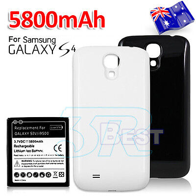 5800mAh Extended Battery Back Cover Case For Samsung Galaxy S4 i9505 i9500