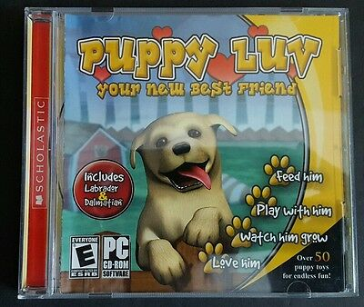 Scholastic Puppy Luv Your New Best Friend Play Pc Cd-Rom (Labrador& Dalmatian)