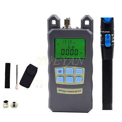 2pc Fiber Optical Power Meter 1mv Visual Fault Locator Fiber Optic Cable Tester