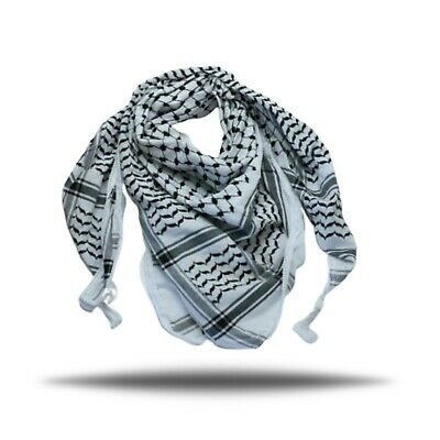 New luxurious Original Hirbawi Black white Palestine Arab Keffiyeh Hata Shemagh