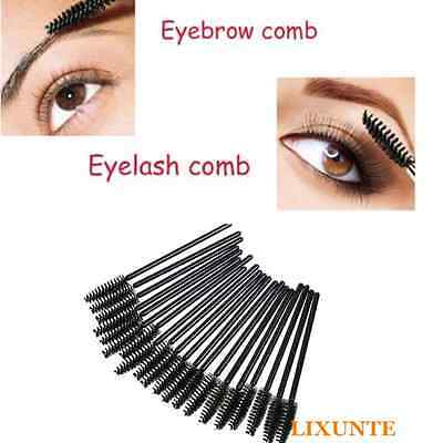 10PCS Women Professional Spiral Eyelash Eyebrow Brow Brush Cosmetic Makeup Black