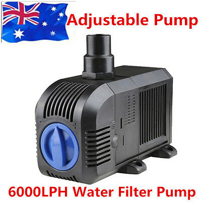 AU STOCK Submersible Air Circulation Water Filter Pump Tank Aquarium 6000LPH