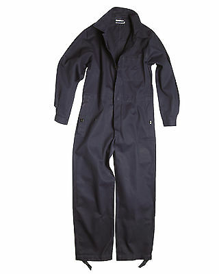 Genuine German Army BW Navy Blue One Piece Overall Coverall Work Boiler Suit