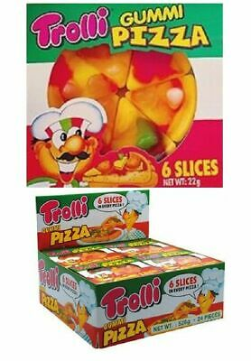 48 x Trolli Pizza 5 Slice 15.5g Individually Wrapped Lollies Bulk Sweets Favors
