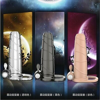 Man Extender Cock Penis Sleeve Enlarger Adult Sex Toys Extend Coital Time