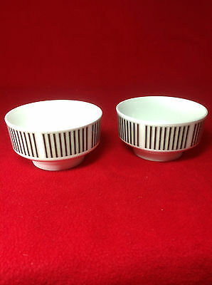 Vintage : Royal Osborne CAPRICE : PAIR - Bone China Bowls : 11 cm dia