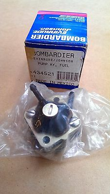 New OEM OMC P/N 434521 Fuel Pump for 1991 to 2001 3 & 4 HP  Evinrude Johnson