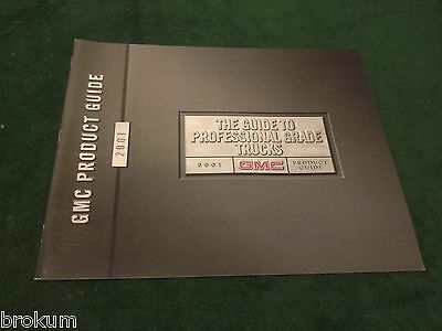 Mint 2001 Gmc Product Guide Full Line Sales Brochure Original (Box 664)
