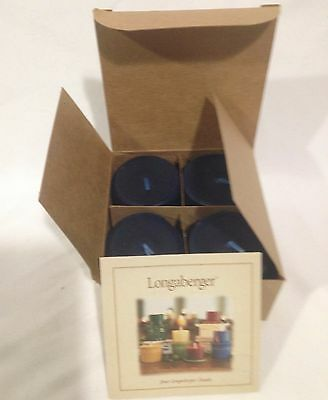 Longaberger Proudly American 4 PK Votive Candles Scented Blue