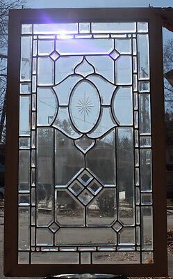 cir. 1900 Antique American Brilliant Beveled Cut Stained Glass Window