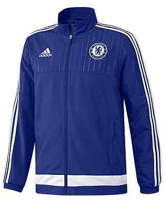 Adidas Youth Xl Chelsea Fc Football Soccer Club Tracksuit Jacket Blue S12035 New