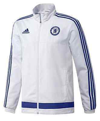 Adidas Youth Xl Chelsea Fc Football Soccer Club Tracksuit Jacket White S12034