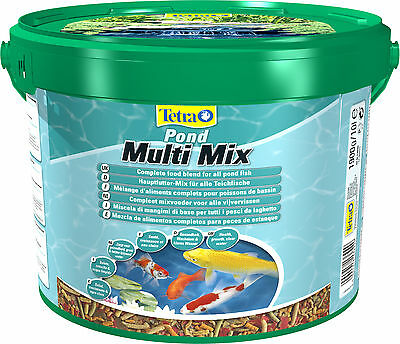 Tetra Pond Multi Mix 10 L Flocken, Sticks, Wafern und Gammaruskrebsen Mix