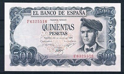 Spain -Banknote  Extrmely Rare 500 Pesetas 1971  Unc