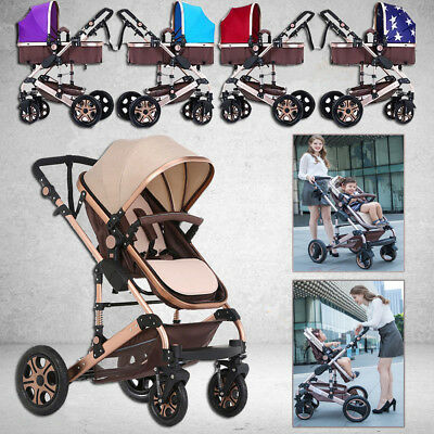 Newborn Child Baby Foldable Travel System Jogger Pram Stroller Buggy Pushchair