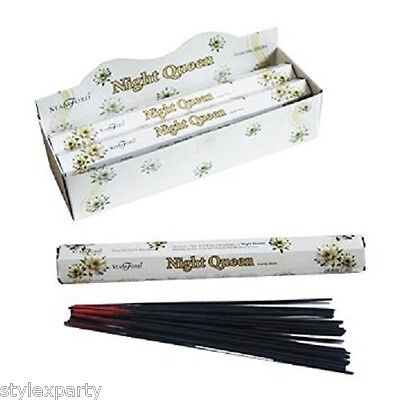 Stamford Night Queen Incense Sticks,Incense Stick Holder,Pack of 6 Incense Tubes