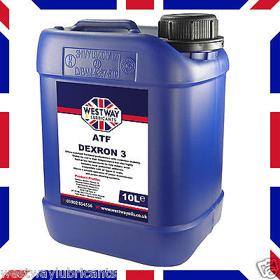 ATF Dexron III 10 Litre 10L Automatic Transmission Fluid DIII - Made in UK