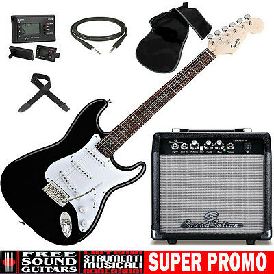 KIT Chitarra Elettrica FENDER BULLET + Amplificatore SOUNDSATION CLASSIC-10 + AC
