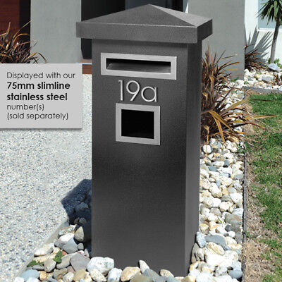 MILKCAN DESIGN - HUGE A4 MAILBOX Letters Magazines Steel Pillar Mail box