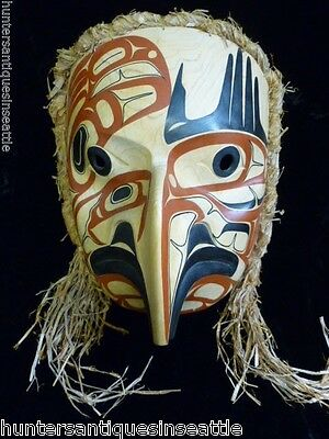"Impressive  Tsimshian  Mask by David Boxley, ""Eagle Spirit""  signed Dated 1999"