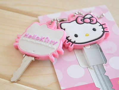 Hello Kitty Animal Key Cap Cover Ball Chain Pink