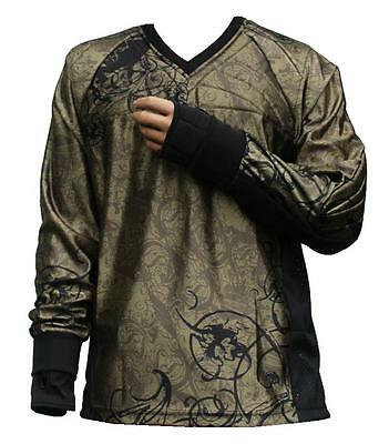 "Tournament Paintball Jersey ""Ghost"" Olive Gotcha Shirt Oberteil Trikot"