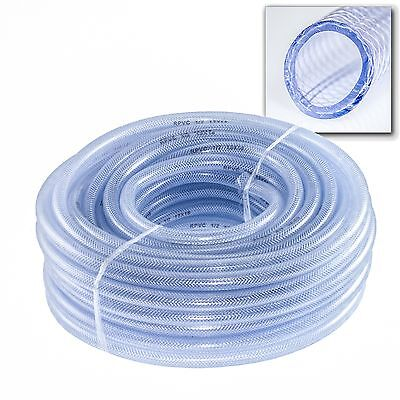 PVC Braided Pipe Hose Tubing Irrigation Water Fuel Ponds Koi DIY