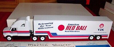 American Red Ball World Wide Mover Sleeper Tractor And 48' Trailer Winross Truck