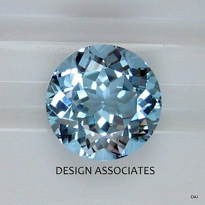 Aquamarine 8 Mm  Round Cut Outstanding Blue Color All Natural