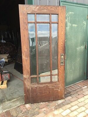 Ar 31 Antique Oak Prairie Style Beveled Glass Entrance Door