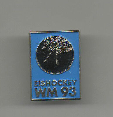 Orig.pin / badge   Ice Hockey World Championship GERMANY 1993 - Official Logo !!